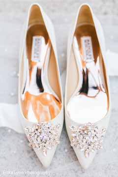 Marvelous Indian wedding ceremony bridal shoes.