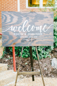 Creative personalized Indian welcome sign.