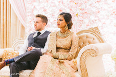 Sweet Indian couple at their reception.