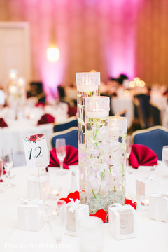 Magnificent Indian wedding crystal table centerpiece.