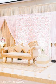 Wonderful reception stage decoration.