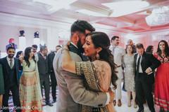Beautiful Maharani and Raja dancing