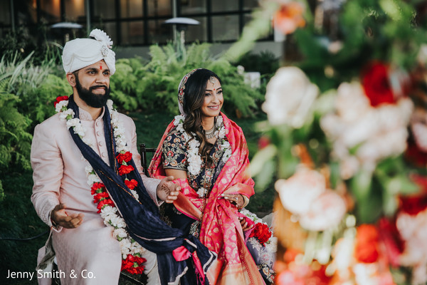ceremony,indian bride,indian groom,floral