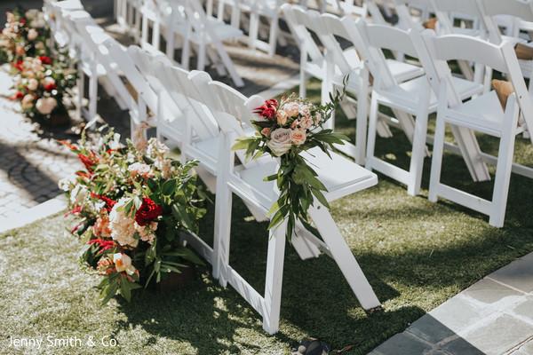 indian wedding,floral,venue,chair