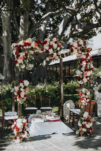 indian wedding,decor,floral,maharani