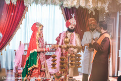 Capture of a moment during the Indian wedding