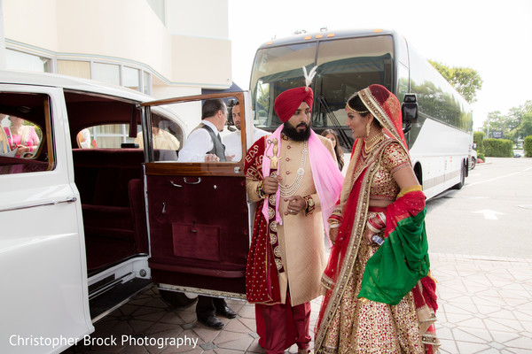 Indian bride and groom after the ceremony