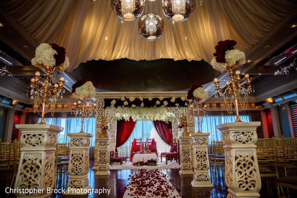 Floral designs at the Indian wedding venue