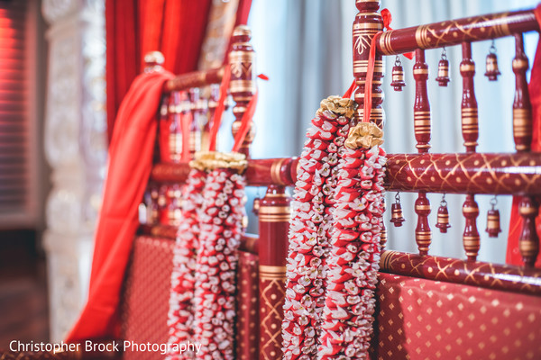 Garlands to be used at the ceremony