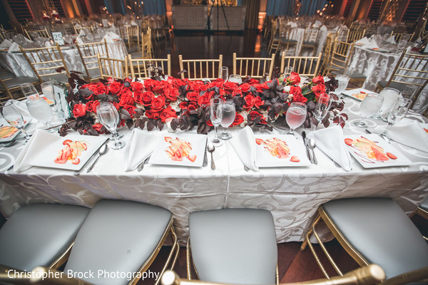 indian wedding,table,reception,floral