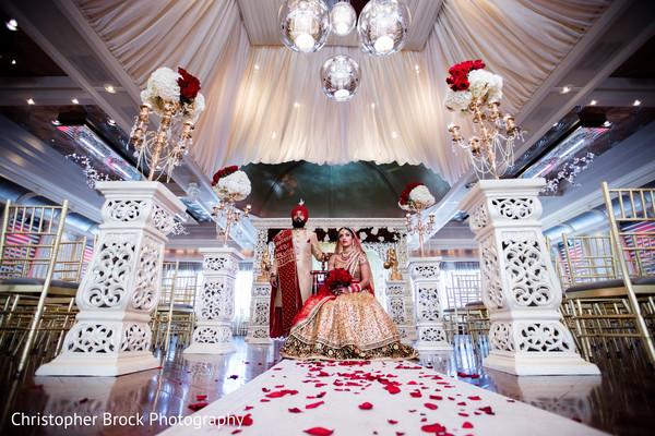 indian wedding,couple,maharani,floral