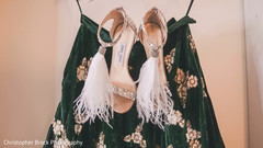 Lengha and shoes details prior to the ceremony