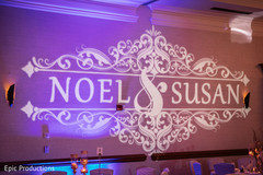 Incredible Indian wedding personalized lights decor.
