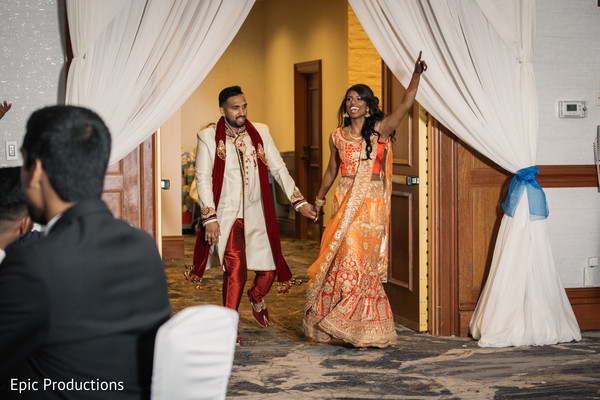 indian wedding reception entrance,indian bride,indian groom