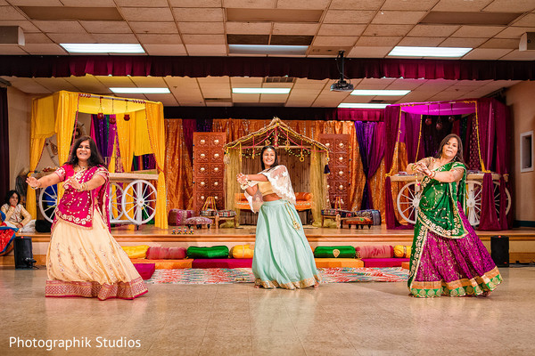 Beautiful Indian guests performing a choreography