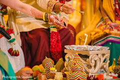 Sacred fire rituals at the Indian wedding