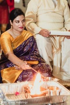 Maharani during her haldi celebration capture.