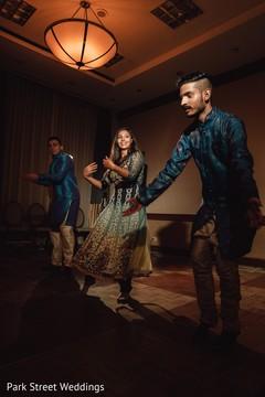Memorable Indian pre-wedding sangeet dance.