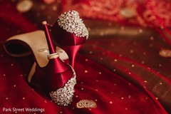 Stunning Indian bridal rings and shoes fashion.