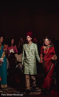 Glamorous indian bride making her entrance.