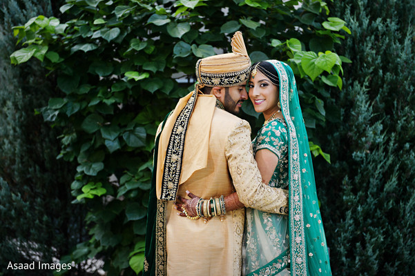 Indian couple first look.