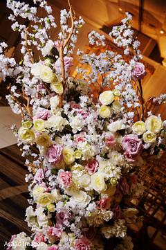 Dreamy Indian wedding ceremony flowers decoration.