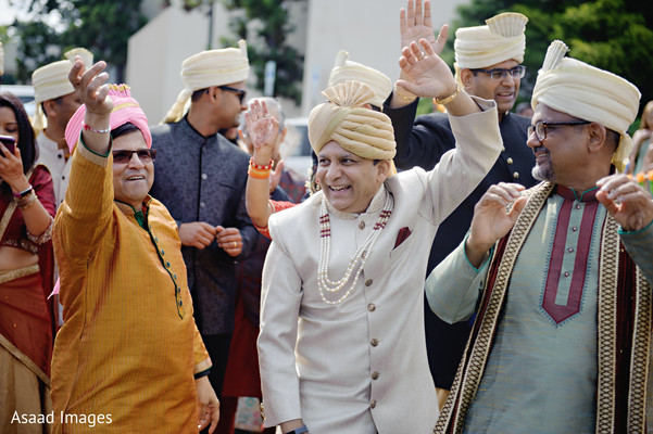 Elegant Indian baraat joyful capture.