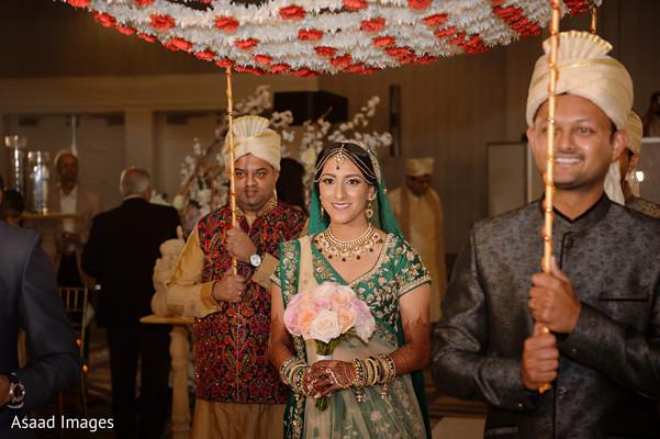 Maharani entering to her wedding ceremony.
