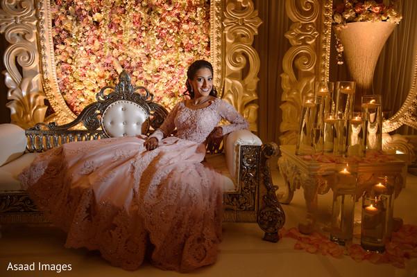 Radiant indian bride  reception photo shoot.