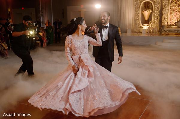 Indian couple marvelous reception dance.