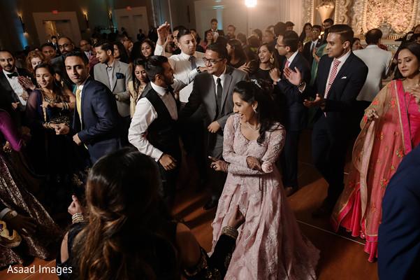 Upbeat indian bride's dance performance.