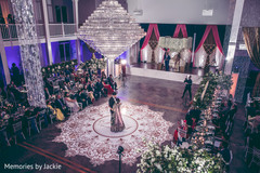 Overview of the Indian newlyweds at the venue