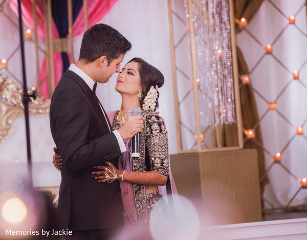Indian groom kissing the Indian bride