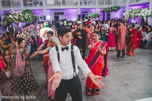 Ravishing guests dancing at the reception