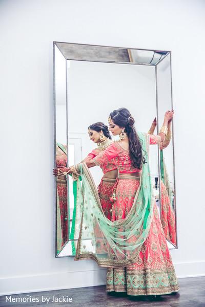 indian bride,lengha,ceremony,venue