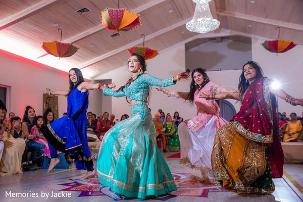 indian bride,bridesmaids,maharani,lengha