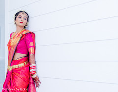 Charming Indian bride posing for the photo shoot