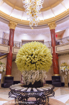 Amazing floral decor design at the reception venue