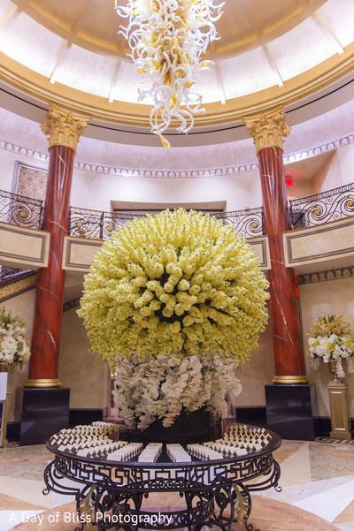 Amazing floral decor design at the reception venue