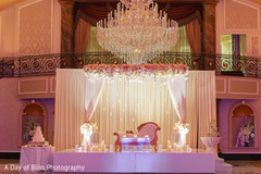 Indian wedding decoration for the reception
