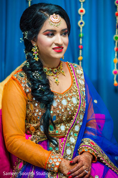 Indian bride prior to the ceremony