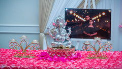 Statue of Ganesha at the Indian wedding reception