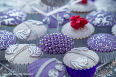 Close up details of the delicious cupcakes