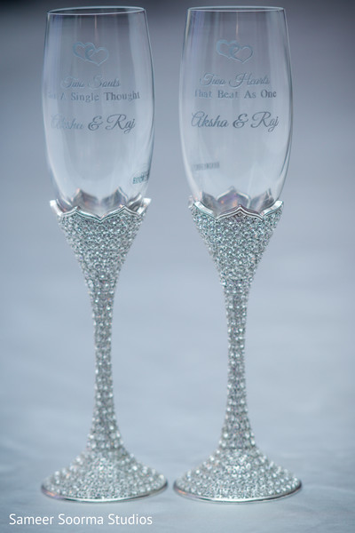 indian wedding,glassware,initials,venue