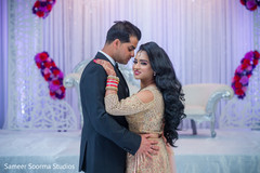 Indian newlyweds having their first dance capture