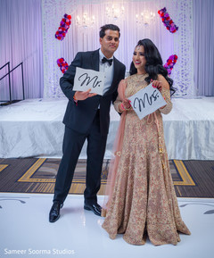 Indian bride and groom fun capture