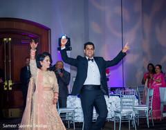 Ravishing Indian newlyweds entering the party