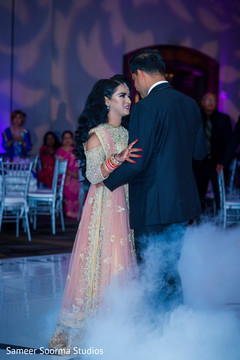 Indian bride having her first dance