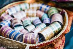 Colorful Indian sangeet bangles capture.