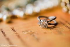 Elegant Indian engagement ring photo.